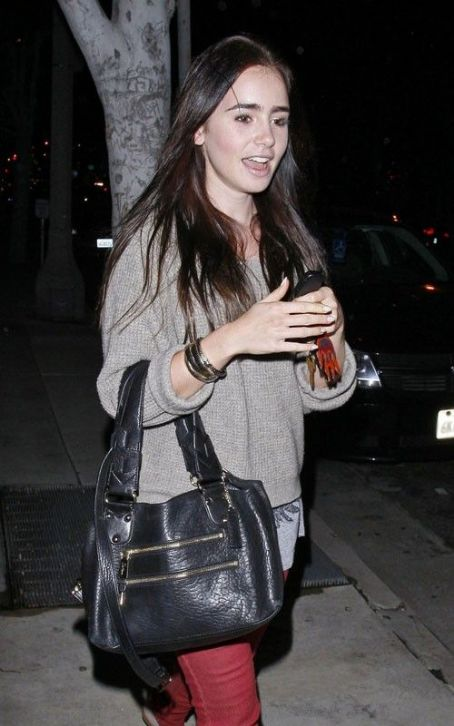 Lily Collins' Newsroom Night Out