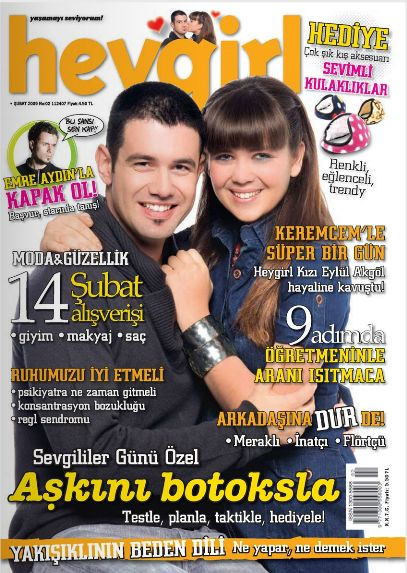 Kerem Cem - Hey Girl Magazine Cover [Turkey] (February 2009)
