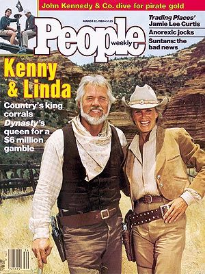 Kenny Rogers and Linda Evans - PEOPLE Cover, August 22,1983