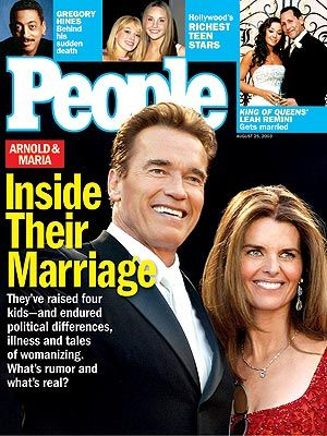 Arnold Schwarzenegger  and Maria Shriver - PEOPLE Cover, August 25, 2003