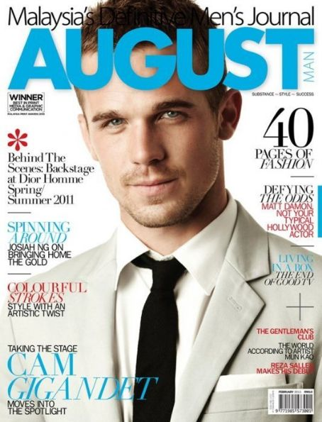 Cam Gigandet - August Man Magazine Cover [Malaysia] (February 2011)