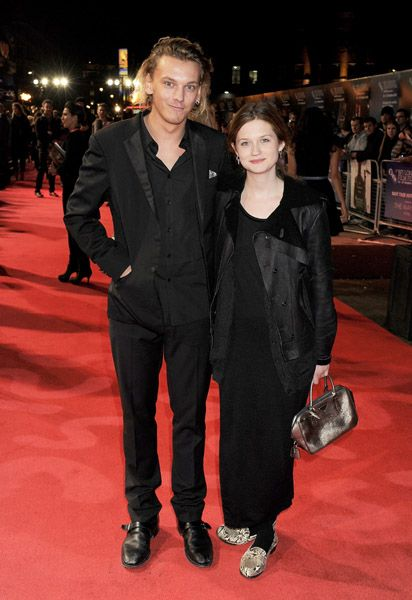 Jamie Bower and Bonnie Wright - Jamie Campbell Bower attended the premiere of his new film. Anonymous during the 55th BFI London Film Festival, October 25, at Empire Leicester Square in London