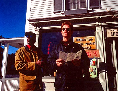 State and Main Lonnie Smith and William H. Macy in Fine Line's  - 2000