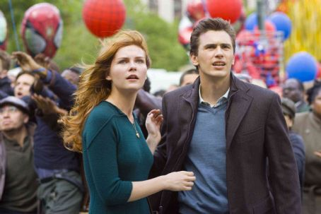 Mary Jane Watson Kirsten Dunst (left) as  and James Franco as Harry Osborn in Columbia Pictures' Spider-Man 3. Photo Credit: Merie W. Wallace. Copyright© 2006 Sony Pictures Entertainment Inc.. All rights reserved.