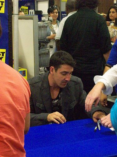 Jonathan Knight  @ Best Buy in Burbank
