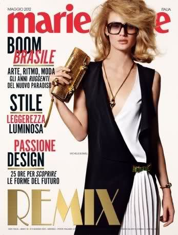Michelle Buswell - Marie Claire Magazine Cover [Italy] (May 2012)
