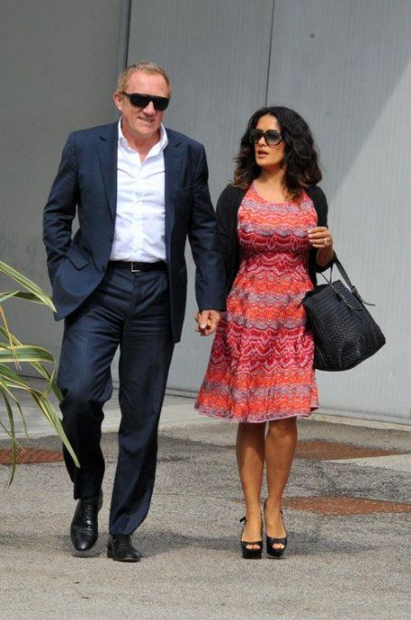 Salma Hayek: arriving in Venice
