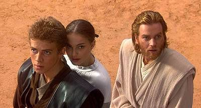 Star Wars: Episode II - Attack of the Clones Ewan McGregor, Natalie Portman and Hayden Christensen in  (2002)