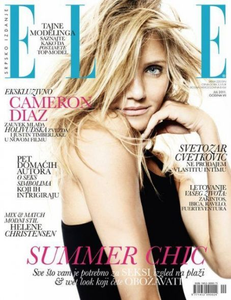 Cameron Diaz - Elle Magazine Cover [Serbia] (July 2011)