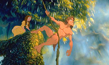 Tarzan  and Jane in Disney's  - 1999