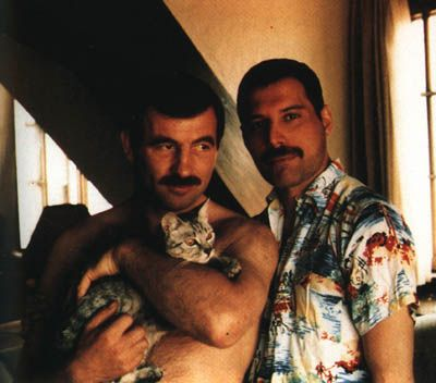 Jim Hutton and Freddie Mercury Freddie Mercury and James Hutton