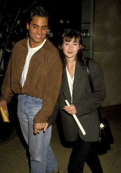 Chris Foufas  and Shannen Doherty, January 17th 1992, Golden Globe Awards rehearshals
