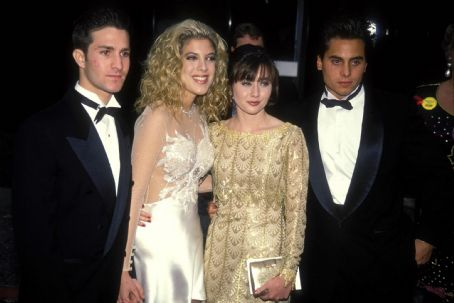 Chris Foufas  and Shannen Doherty, March 17th 1992, People's Choice Awards