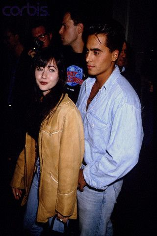 Chris Foufas  and Shannen Doherty, October 27th 1992, Planet Hollywood opening