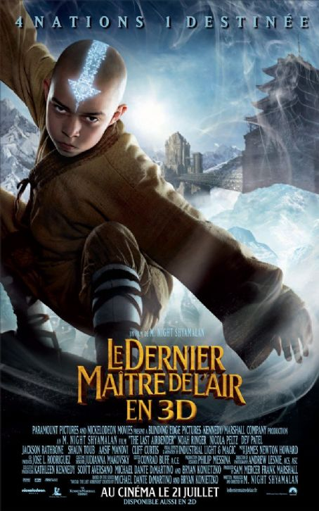 Noah Ringer The Last Airbender: French International Character Poster - Aang