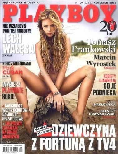 Monika Ordowska - Playboy Magazine Cover [Poland] (April 2012)