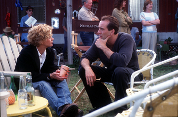 City of Angels Meg Ryan and Nicolas Cage in Warner Brothers' City Of Angels - 1998