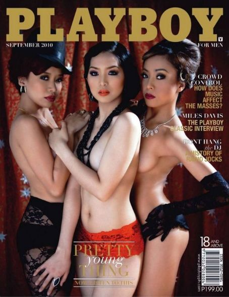 Nichole Enriquez, Dani Soan, Ava Jugueta - Playboy Magazine Cover [Philippines] (September 2010)