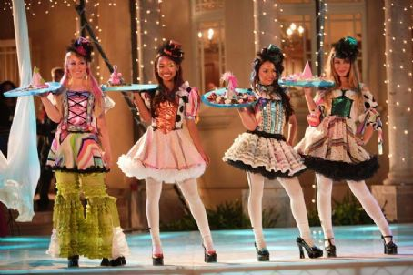 Logan Browning Skyler Shaye as Cloe,  as Sasha, Janel Parrish as Jade and Nathalia Ramos as Yasmin in Lions Gate Films' Bratz: The Movie - 2007