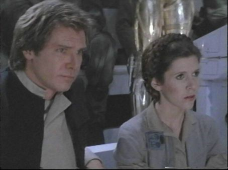 Princess Leia Harrison Ford and Carrie Fisher in Star Wars: Episode VI - Return of the Jedi