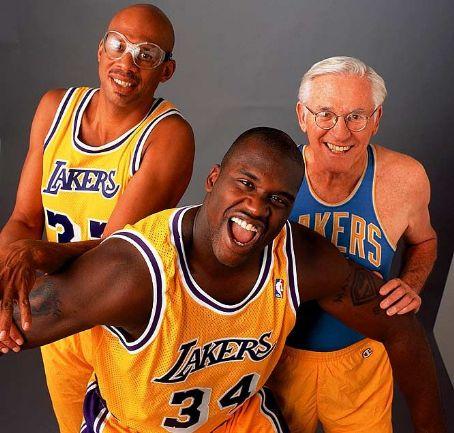 Kareem Abdul-Jabbar Kareem Jabbar, George Mikan &  Shaquille O'Neal