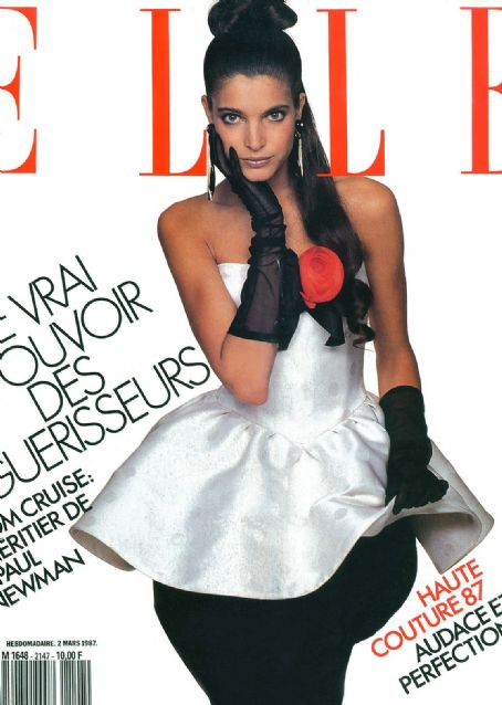 Stephanie Seymour - Elle Magazine Cover [France] (March 1987)