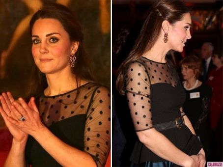Pregnant Kate Middleton's Baby Bump Is Starting to Make Its Royal Debut