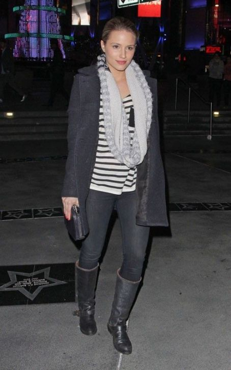 Dianna Agron Rocks Out at Jay-Z/Kanye West Show