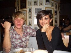 Frankie Sandford and Dougie Poynter