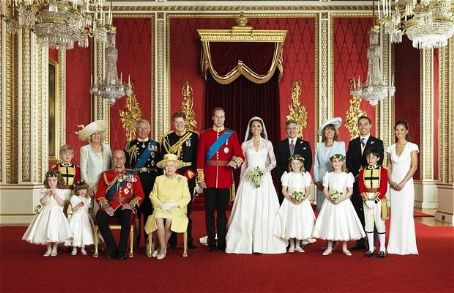 Queen Elizabeth II - Official Family at Duke & Duchess of Cambridge's wedding