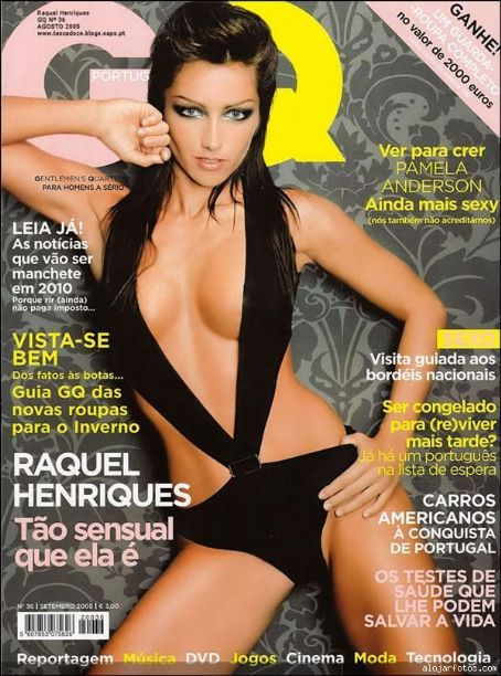 Raquel Henriques - GQ Magazine Cover [Portugal] (August 2005)