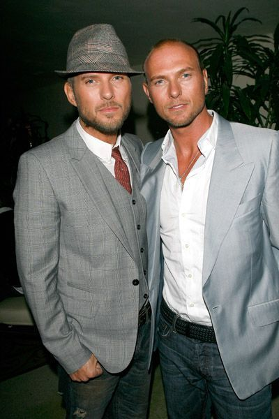 Matt Goss  with twin brother, Luke, at the