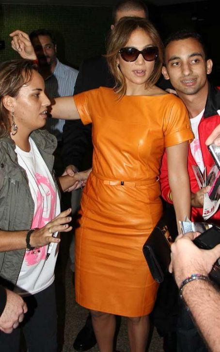 Jennifer Lopez's Colorful Sao Paulo Departure