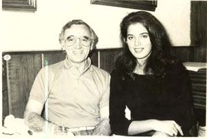 Vanessa de Oliveira  with Charles Aznavour