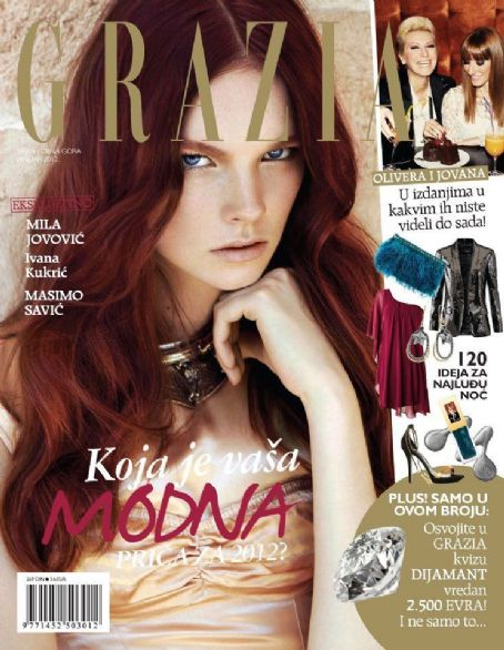 Grazia Magazine Cover [Serbia] (January 2012)
