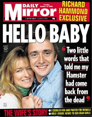 Richard Hammond - Daily Mirror Magazine Cover [United Kingdom] (24 October 2006)