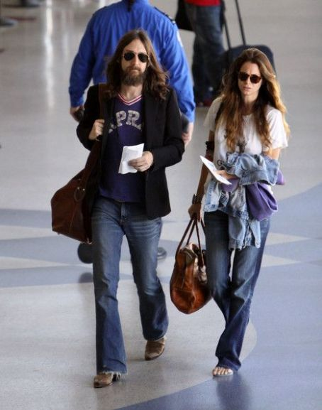 Allison Bridges Chris Robinson and  arrives at LAX