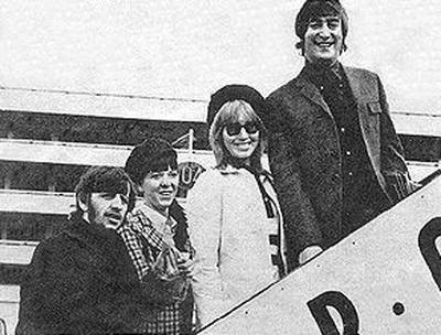 Ringo Starr and Maureen Starkey with John and Cynthia Lennon