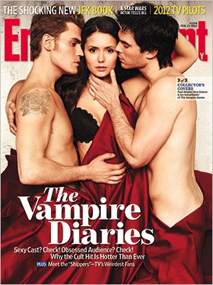 'The Vampire Diaries' stars talk about the red-hot Damon-Elena-Stefan triangle