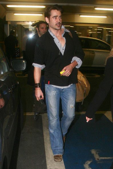 Colin Farrell at Heathrow