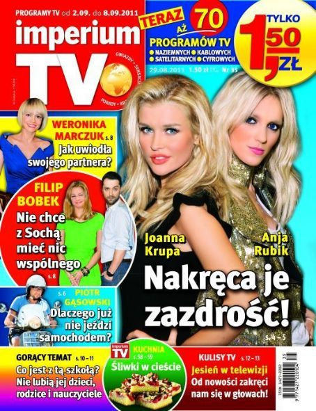 Joanna Krupa, Anja Rubik - imperium TV Magazine Cover [Poland] (2 September 2011)