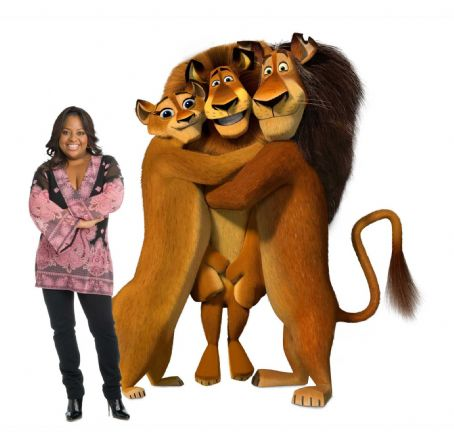 "Sherri Shepherd SHERRI SHEPHERD voices Alex's Mom (left) in DreamWorks' ""Madagascar: Escape 2 Africa."" Photo credit: Patrick Ecclesine. Madagascar: Escape 2 Africa ™ & © 2008 DreamWorks Animation L.L.C. All Rights Reserved."