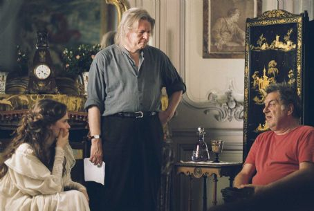 Felicity Jones  as Edmée, Christopher Hampton, and Stephen Frears. Photo credit: Bruno Calvo.