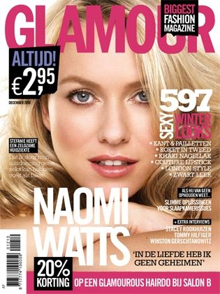 Naomi Watts - Glamour Magazine [Netherlands] (December 2010)