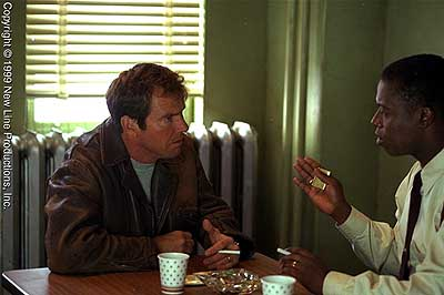 Andre Braugher Dennis Quaid and  in New Line's Frequency - 2000