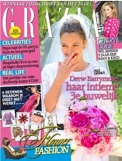 Drew Barrymore, Cheryl Cole - Grazia Magazine Cover [Netherlands] (13 June 2012)