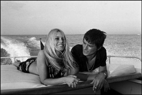 Brigitte Bardot and Alain Delon