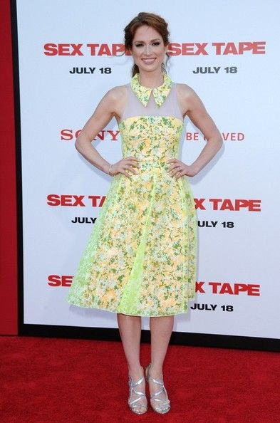 Ellie Kemper wears Honor - 'Sex Tape' Premiere