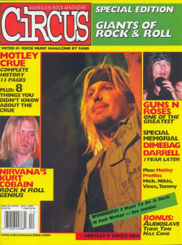 Vince Neil - Circus Magazine [United States] (January 2006)
