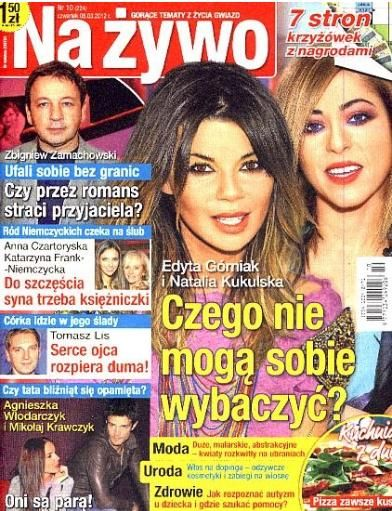 Edyta Górniak, Natalia Kukulska - Na żywo Magazine Cover [Poland] (8 March 2012)